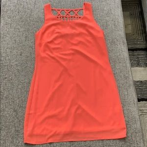 Coral Sleeveless Mini Dress